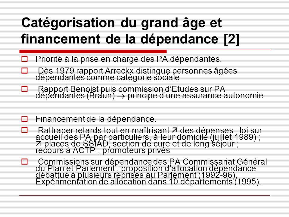Catégorisation du grand âge et financement de la dépendance [2]